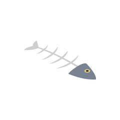 Fishbone icon, isometric 3d style
