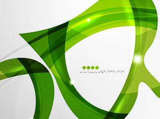Leaf shape wave abstract background