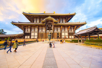 The Main Hall of Todai-ji Temple in Nara, Japan.