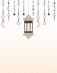 Islamic Ramadan themed background with lanterns