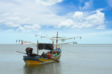 Small squid fishing boats