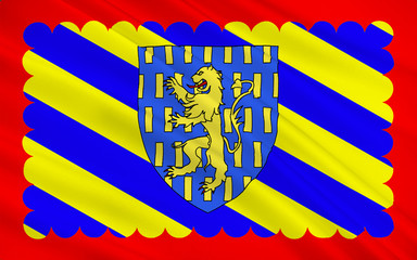Flag of Nevers, France