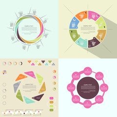 Set of circular templates for presentation