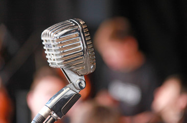 micrófono antiguo recital 8363-f16