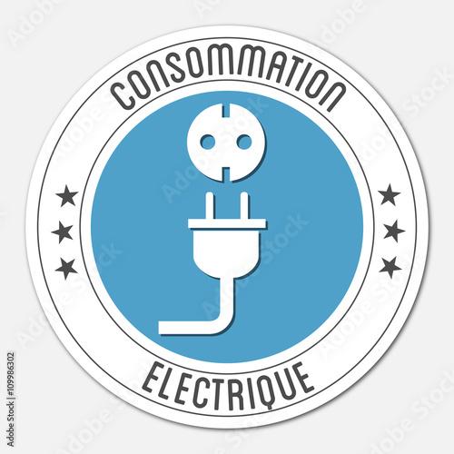 logo consommation lectrique fichier vectoriel libre de droits sur la banque d 39 images fotolia. Black Bedroom Furniture Sets. Home Design Ideas