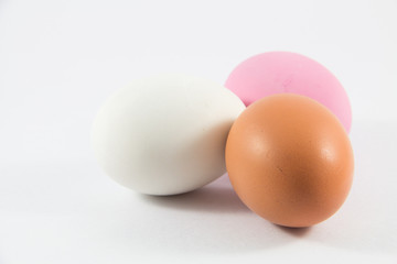 Three Colored Eggs for cooking.