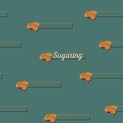 seamless pattern. sugaring icon. sugar paste for epilation