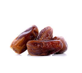 date palm,date fruit on white background