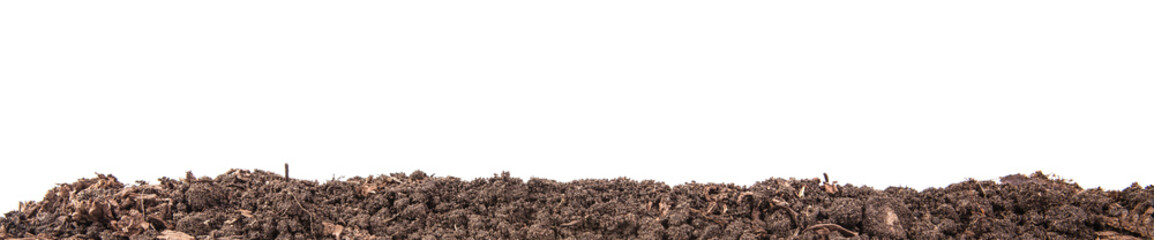 Soils for plants. isolated on white background Wall mural