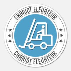 Logo chariot élévateur.