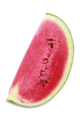 Half sliced watermelon isolated on white