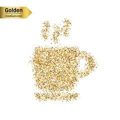 Gold glitter vector object