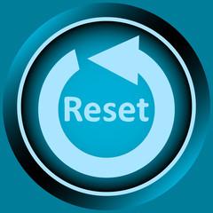 Icon blue reset