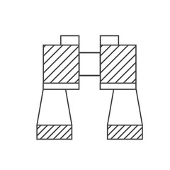 Binoculars Vector Outline Icon.