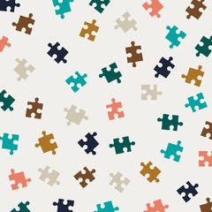 Vector Illustration of an Abstract Puzzle Background