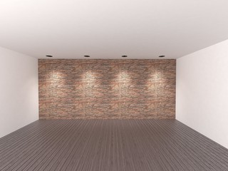 empty room for decoration or retouch/3d rendering