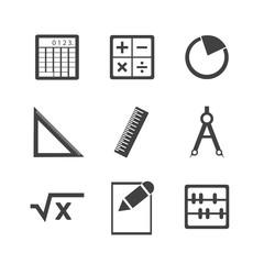 Math icon set.