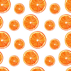 watercolor seamless orange pattern