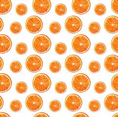 watercolor seamless orange pattern small