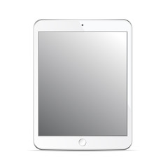 Tablet mockup template isolated on white background. Design elem