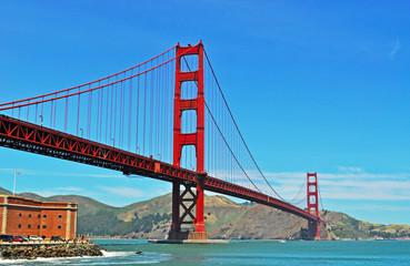 San Francisco, California, Usa: vista panoramica del Golden Gate Bridge il 9 giugno. Il ponte, inaugurato nel 1937, è diventato il simbolo della città di San Francisco nel mondo