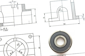 Drawing with the bearing