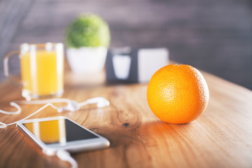 Orange on desktop