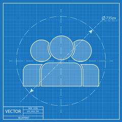blueprint icon of team