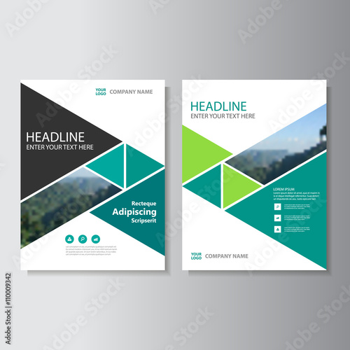 Green Business Proposal Vector Leaflet Brochure Flyer Template