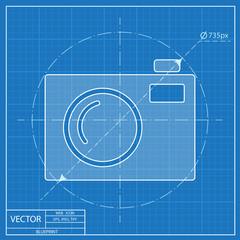 blueprint icon of camera
