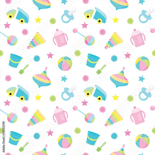 quotbaby seamless toys pattern design for fabric web