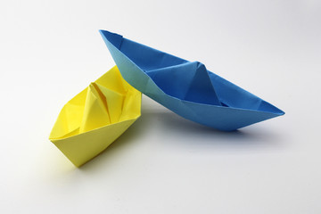 Paper Boats - yellow, blue