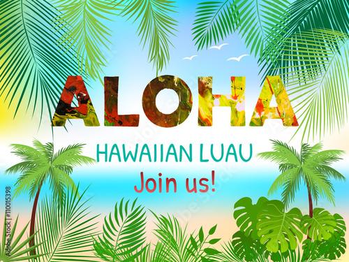 Aloha hawaiian party template invitation stock image and royalty aloha hawaiian party template invitation stopboris Gallery