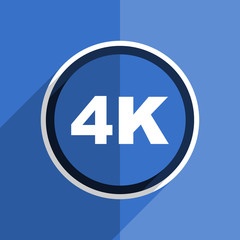 blue flat design 4k modern web icon