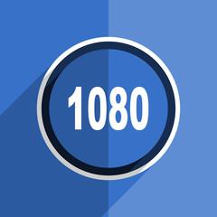 blue flat design 1080 modern web icon