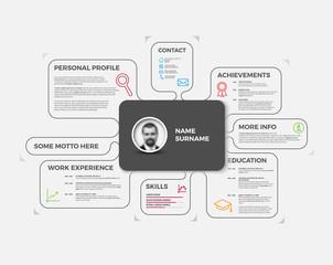 Vector original creative cv / resume template