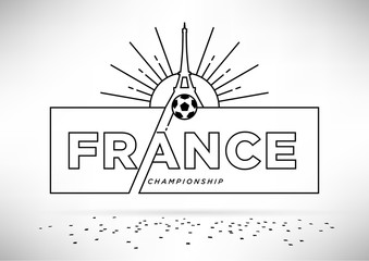 European Football Championship Vector Design
