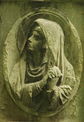 Virgin Mary (fragment of antique statue)
