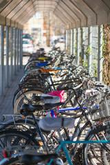 Bike stand at Norrtalje busstation