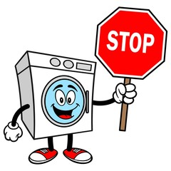 Washer with a Stop Sign