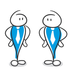 Stick Figure Series Blue / sprachlos