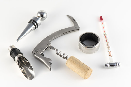 Corkscrew and accessories for wine
