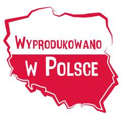 Obraz Wyprodukowano w Polsce - fototapety do salonu