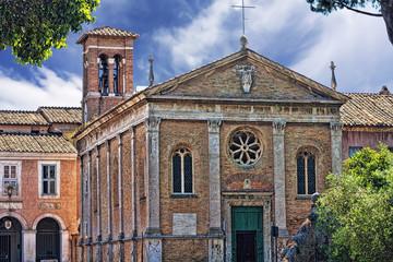 View of the Basilica di Santa Aurea - Ostia Antica - Italy