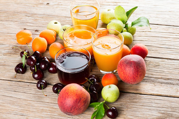 Juice with fruits
