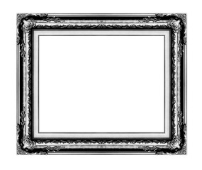 antique frame isolated on white background, black color
