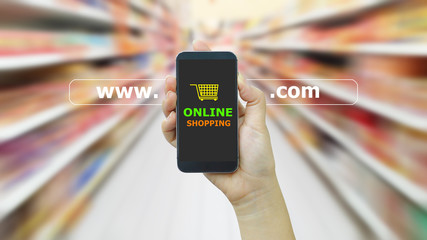 The Internet online shopping concept.