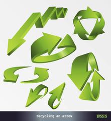 eps Vector image: recycling an arrow 4