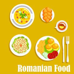 Authentic vegetarian dinner of romanian cuisine