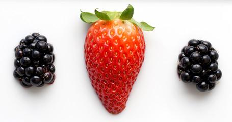 Erdbeere und Brombeere